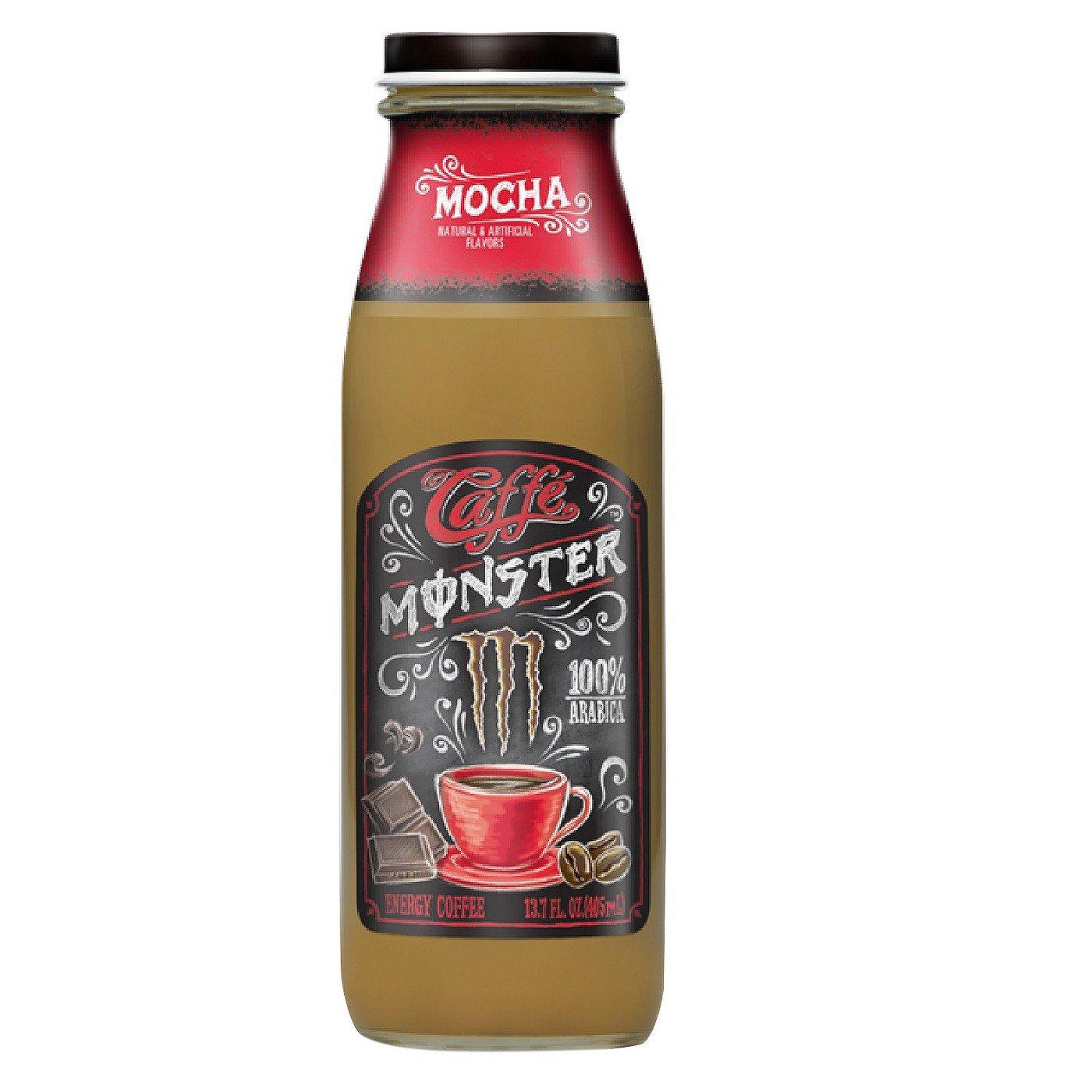 Caffe Monster, Mocha - 13.7 fl oz Glass Bottle (Pack of 8) by Monster Energy (Image #1)