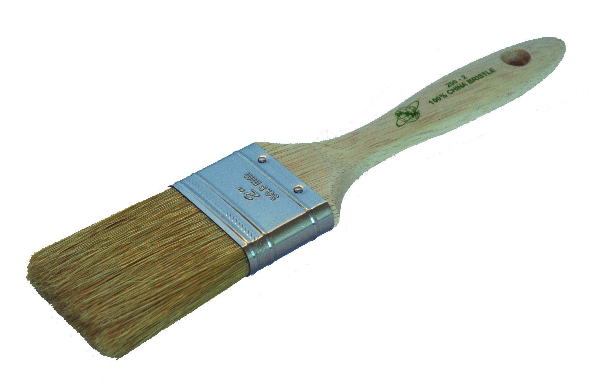 Magnolia Brush 250-1 Beavertail Paint Brush, Professional China Bristles, 1'' Bristle Width (Case of 12)