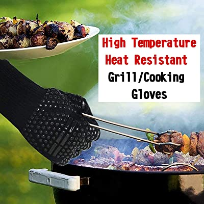 Spatula,Fork and Mats BBQ Grill Set 5 Pieces Stainless Steel Barbecue Grilling Accessories with Carrying Bag LauKingdom BBQ Accessories Tongs Complete Outdoor Barbecue Grilling Accessories