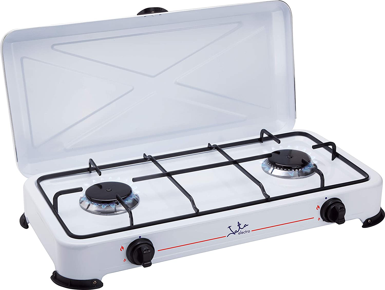 Jata CC705 Cocina de Gas para Camping con 2 Quemadores ...