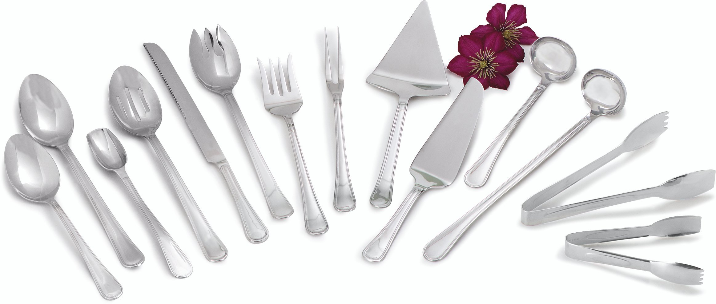 Carlisle 609001 Aria Stainless Steel Heavy-Duty Solid Spoon, 12'' (Pack of 12)