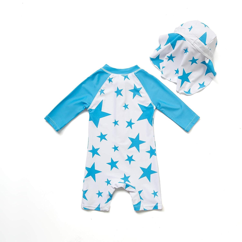 Badeanzug MIT Einem Rei/ßverschluss Bonverano Baby Junge EIN st/ück 3//4 der /ärmell/änge UV-Schutz 50