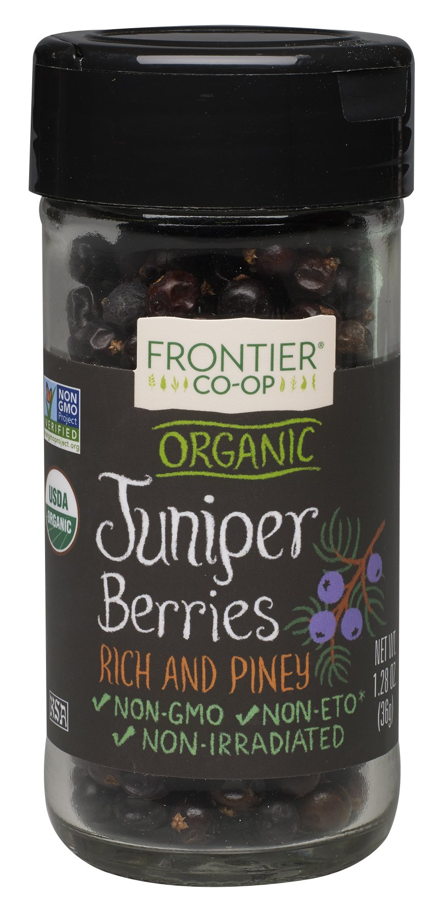 Frontier Natural Products Juniper Berries, Og, Whole, 1.28-Ounce