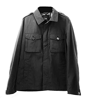 5eea22055 Image Unavailable. Image not available for. Color: Hugo Boss Black Label  Cheleste 1 Black Military Jacket