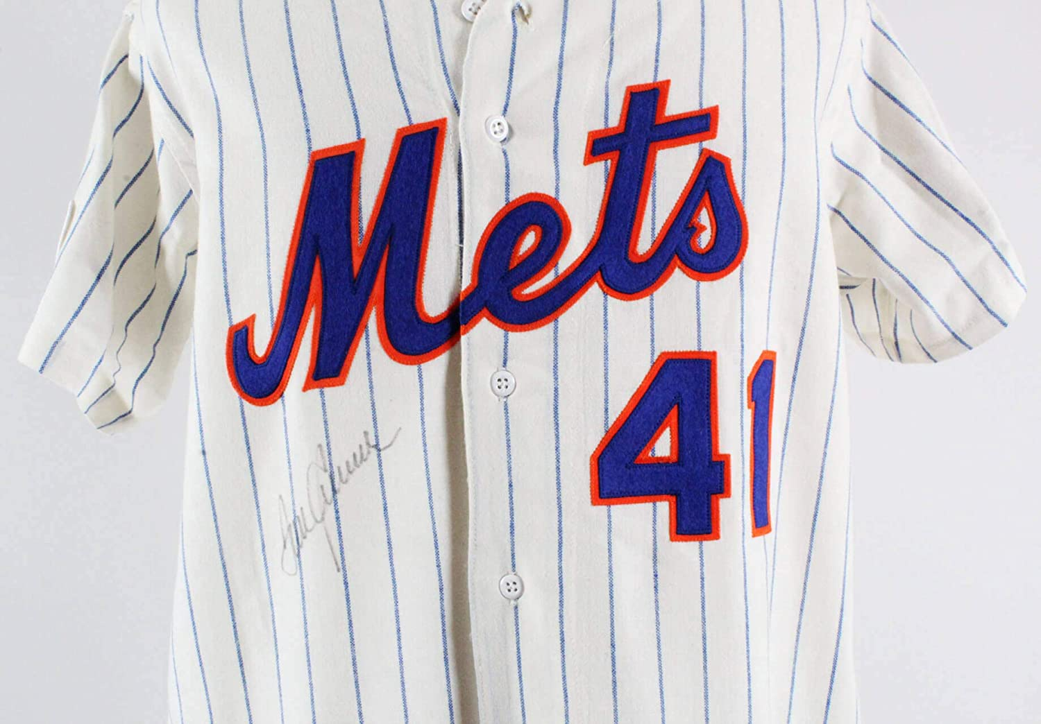 8a005327b7f Tom Seaver Signed Jersey New York Mets - COA at Amazon's Sports  Collectibles Store