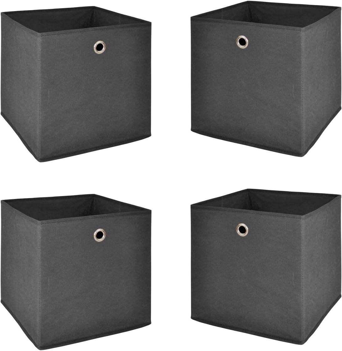 Beige BHS und Krawatten Faltbox Schubladen-Organizer f/ür Kleiderschrankschubladen Divider f/ür Socken Anstore 6 St/ück Aufbewahrungsbox f/ür Unterw/äsche Stoffbox