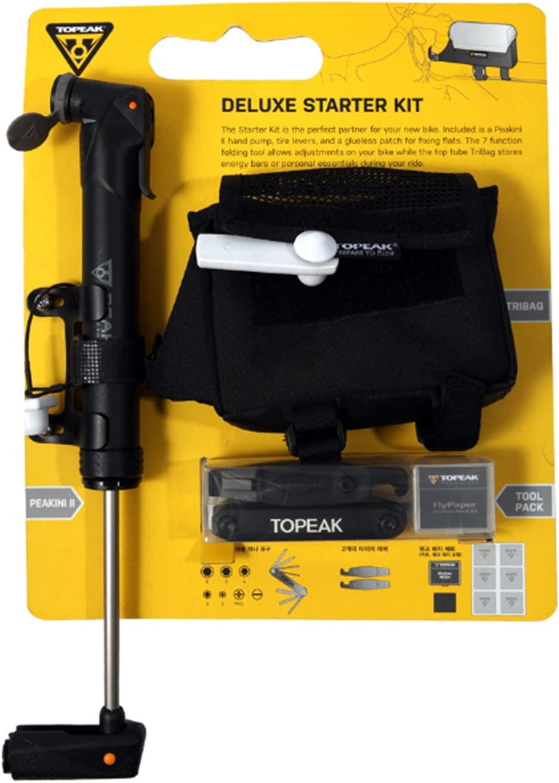 TOPEAK Bicycle Deluxe Starter Kit Bike Multitool TriBag Pump Tool Pack by Topeak: Amazon.es: Deportes y aire libre
