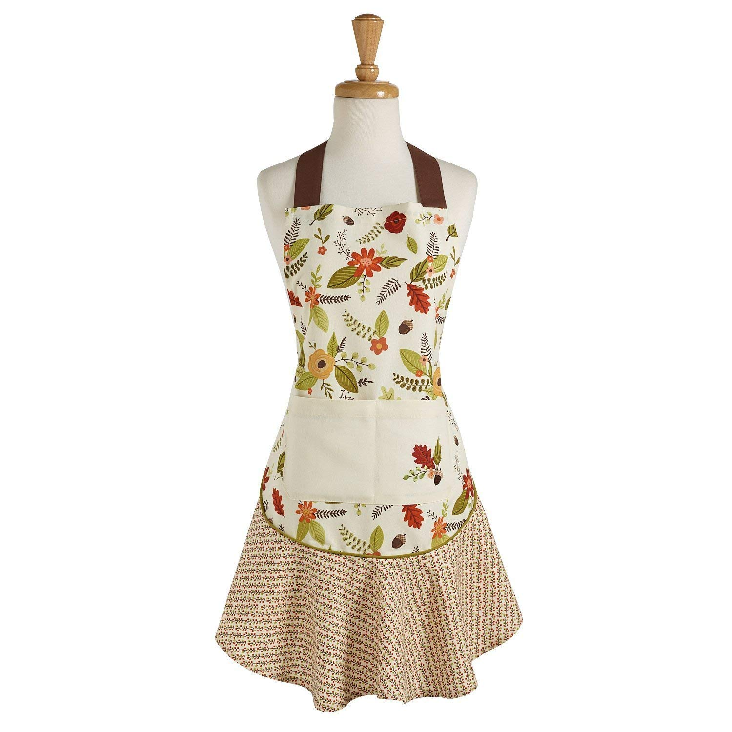 Design Imports DII Fall in Love Ruffle Apron - Autumn Leaves - Thanksgiving