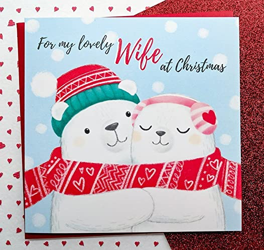 Wife christmas card hand drawn cute polar bears card wife cards wife christmas card hand drawn cute polar bears card wife cards romantic christmas m4hsunfo