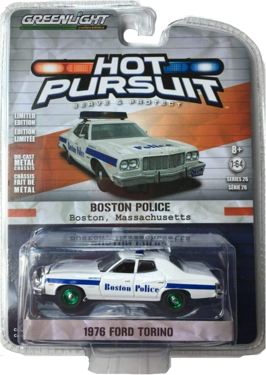Greenlight  Hot Pursuit 1976 Ford Torino Boston Massachusetts Police