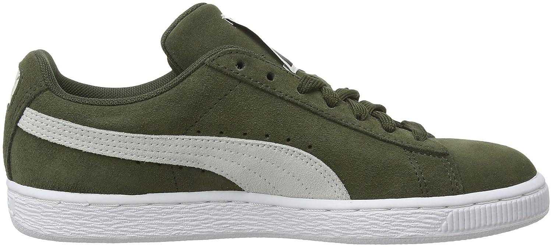 Puma Unisex-Erwachsene (Forest Suede Classic Sneaker, Grün (Forest Unisex-Erwachsene Night-puma Weiß-puma Weiß 33) 3454eb