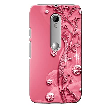 new styles 3da10 5394d Clapcart Moto G3 Designer Printed Back Cover for Moto G Turbo Edition -Pink  Color (Heart Design for Girls)