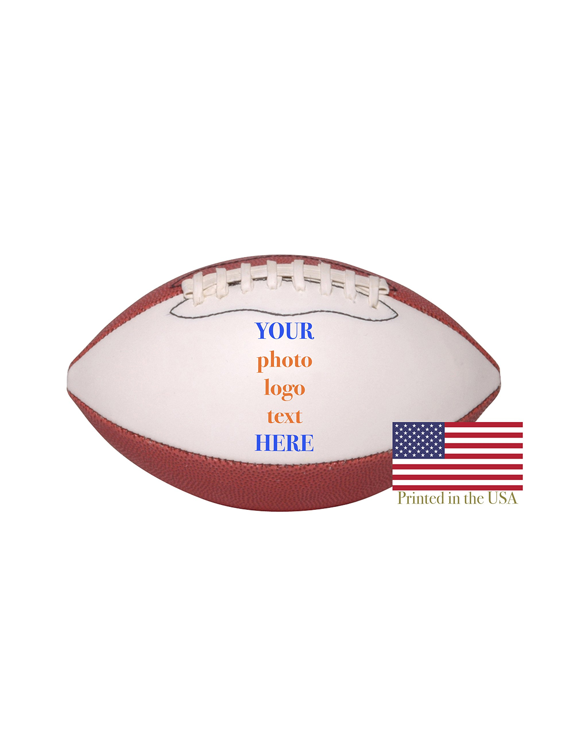 Custom Personalized Football 9 Inch Mid Sized Football Shipped Next Day, High Resolution Photos, Logos & Text on Football Balls for Trophies, Personalized Gifts