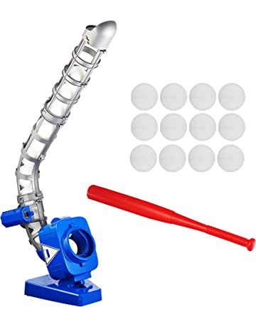 Sport Games Baseball Pitching Machine for Youth, Height Adjustable Electronic Slow Pitch Toy w/