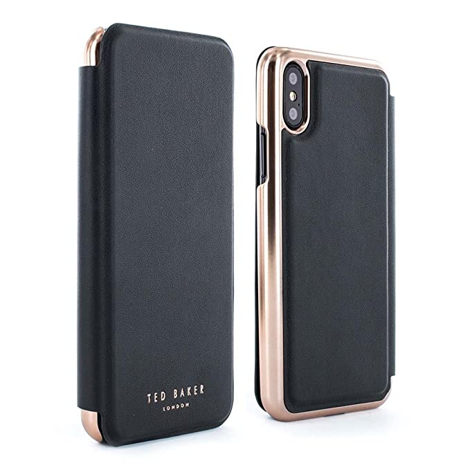96ae6d5b9 Amazon.com  Ted Baker Shannon Mirror Folio Case for iPhone X XS ...