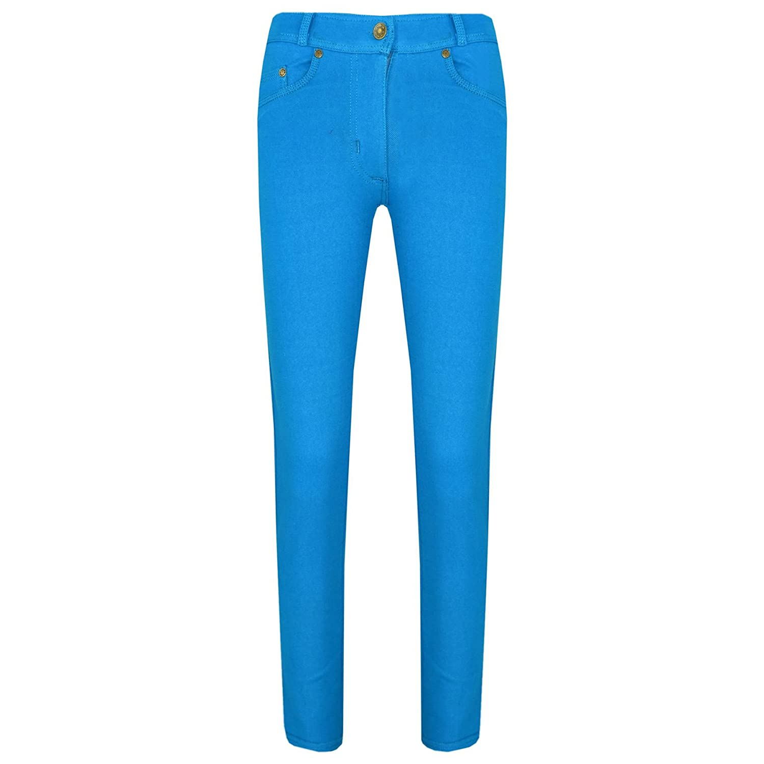 A2Z 4 Kids® Girls Skinny Jeans Kids Stretchy Jeggings Denim Fit Pants Fashion Coloured Trousers Age 5 6 7 8 9 10 11 12 13 Years