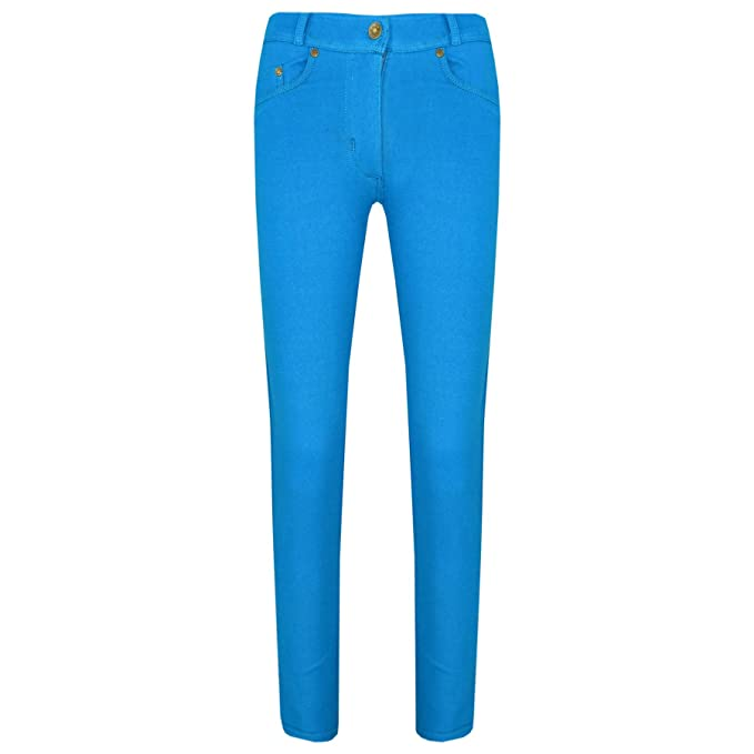 2ef8ca278db5 A2Z 4 Kids® Girls Skinny Jeans Kids Stretchy Jeggings Denim Fit Pants  Fashion Coloured Trousers Age 5 6 7 8 9 10 11 12 13 Years  Amazon.co.uk   Clothing