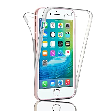 check out 839f4 b858f iPhone 7 PLUS Front and Back Clear Gel Case by Deet® Transparent Protective  360 Protection Cover