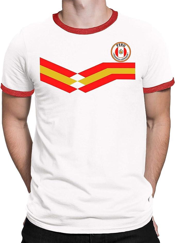 Peru Camiseta Para Hombre World Cup 2018 Fútbol New Style Retro ...