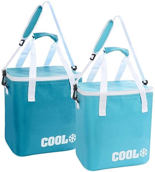 com-four® 2X Cooler Bag - Clásico Termo-Nevera Plegable, Bolsa con ...