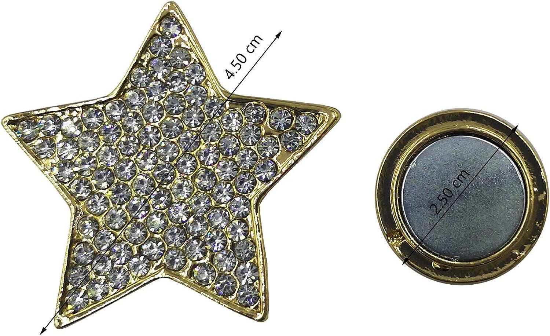 Glamexx24 Femme Broche magn/étique avec Strass pour v/êtement /écharpe ch/âle Poncho