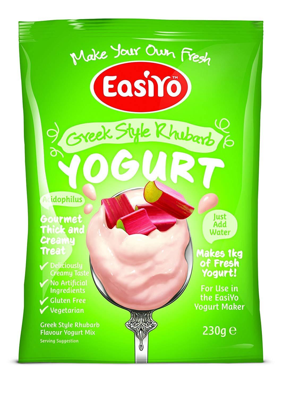 EasiYO Greek Style Rhubarb Yogurt Mix 1 x 230g Sachet TRTAZ11A