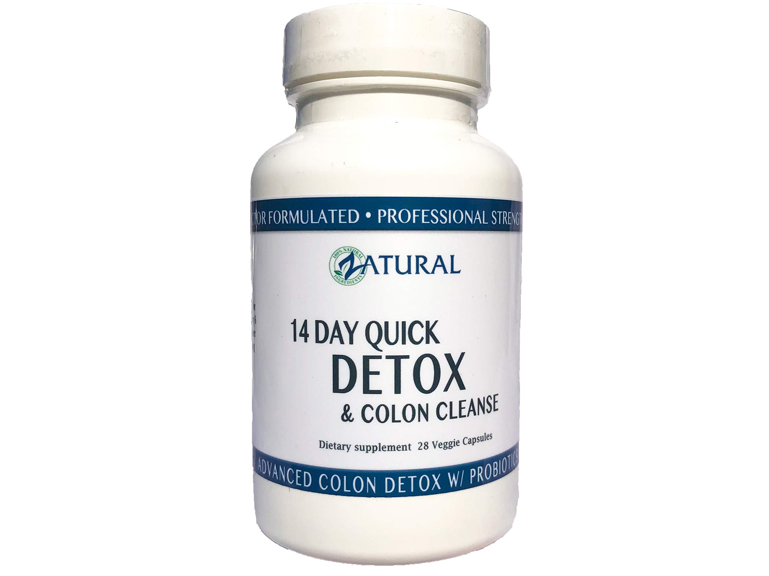 Colon Cleanse Detox_w/ Probiotics_Doctor Formulated_Colon Detox_Colon Health_Colon Weight Loss_Increased Energy Levels_Super Colon Cleanse (14 Day Quick)