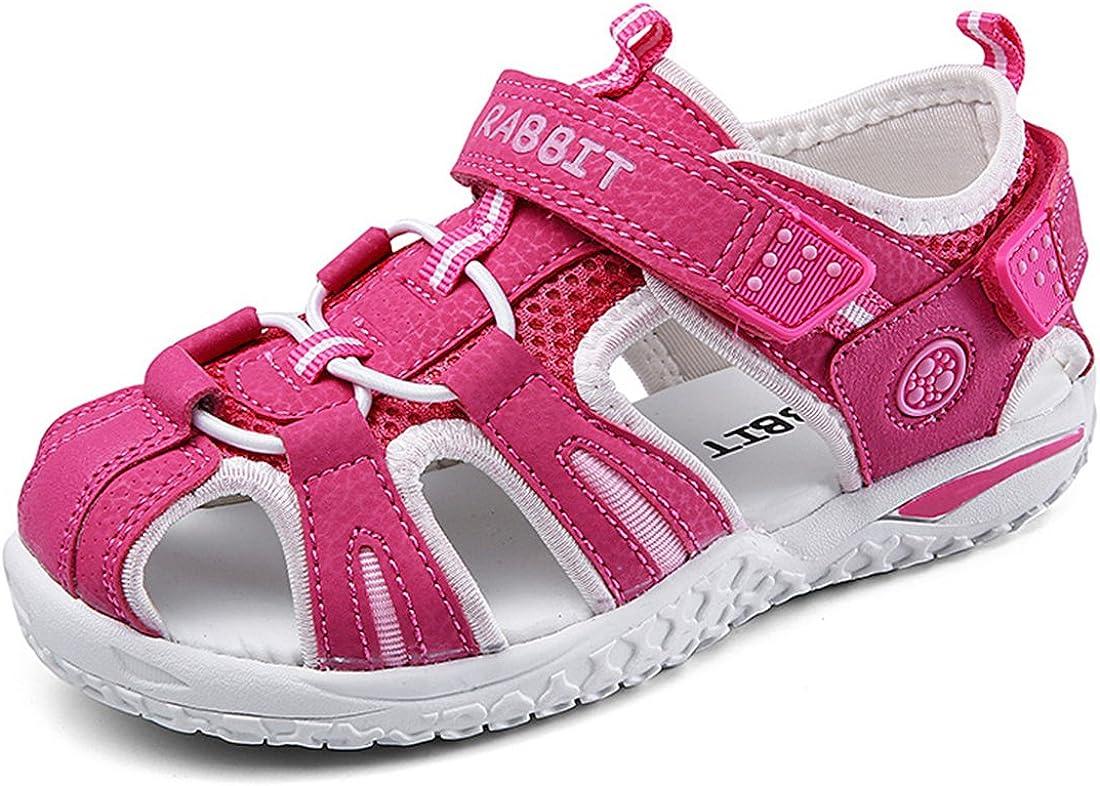 Litfun Boys Girls Outdoor Athletic Sandals Close-Toe Strap Summer Beach Kids Water Shoes