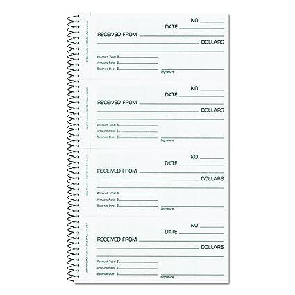 rediform money rent receipt book carbonless 2 part 55 x 275 inches