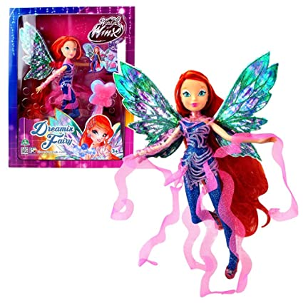 World of Winx - Dreamix Fairy Doll - Bloom 28cm with Magical Robe