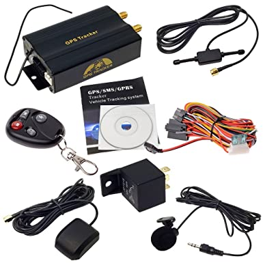 ShopWeb - Modelo TK103B - Vehículo con auto localizador GPS, rastreador, con control remoto