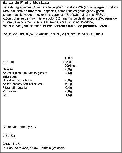Chovi - Salsa Miel y Mostaza - 255 ml
