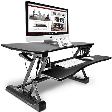 Ergonomic Height Adjustable Standing Desk Sit to Stand Desk Riser Workstation