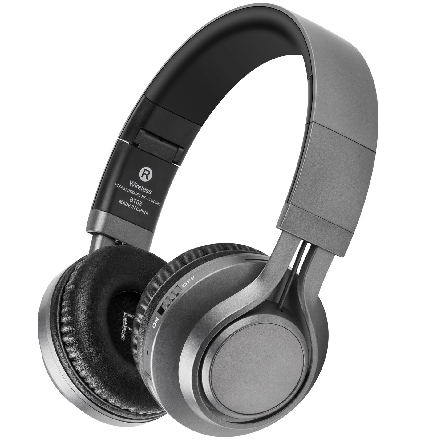 Bluetooth Headphones with Mic, HiFi Stereo Wireless Headphones 40 MM Drive, 8 Hrs Playtime Foldable Headset, Support TF Card, FM Radio Wired&Wireless Mode for PC Cellphone TV (Black Gray) Picun 653391937037
