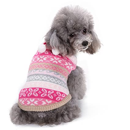 6fe9fd157be Amazon.com: Elogoog Pet Sweater, Knitted Puppy Shirt Christmas Print ...
