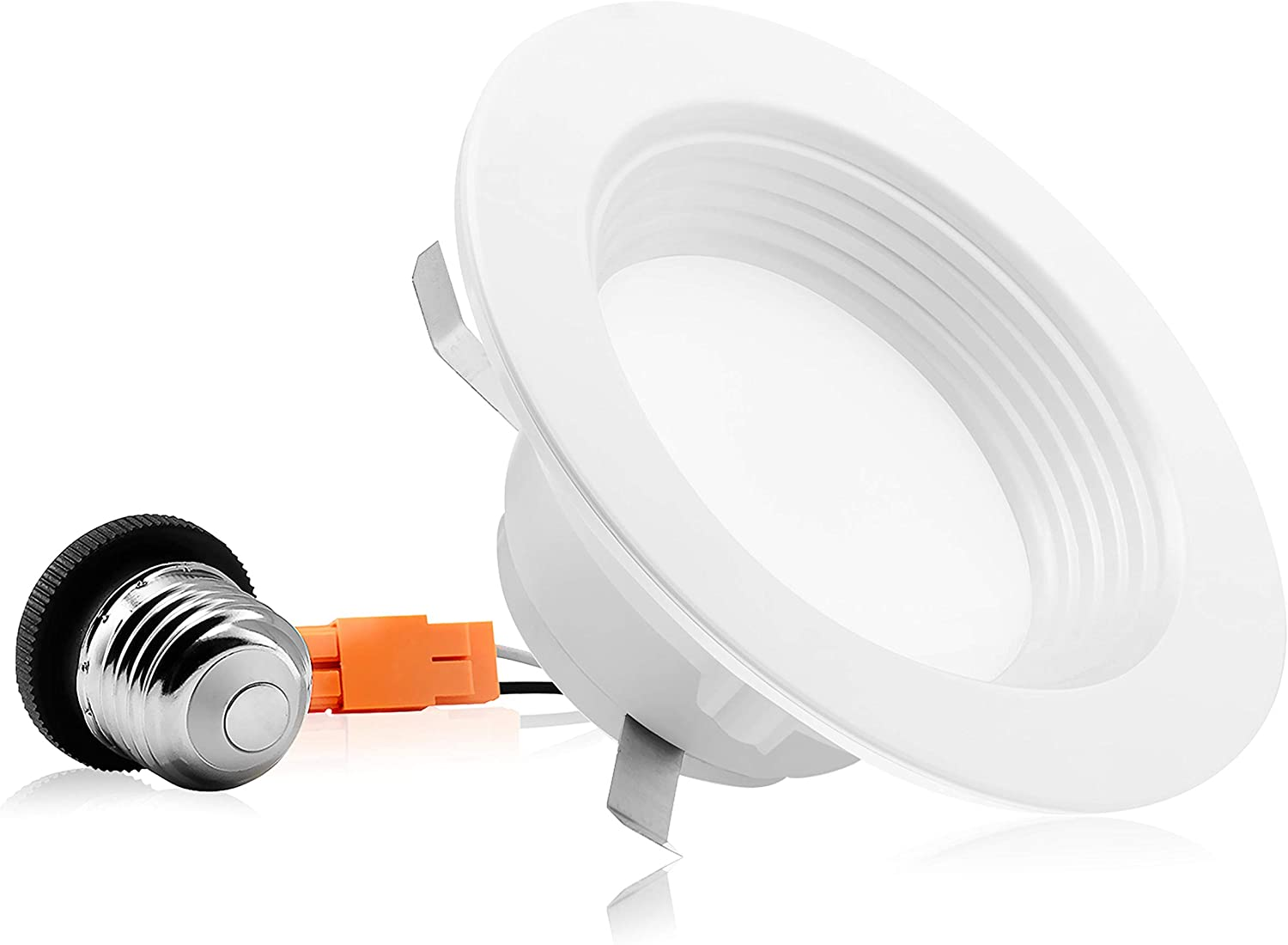 4 Pack 700 Lm 10.5W 4000K Bright White 4-Inch 60W Replacement OSTWIN Retrofit LED Recessed Downlight Fixture Round Dimmable