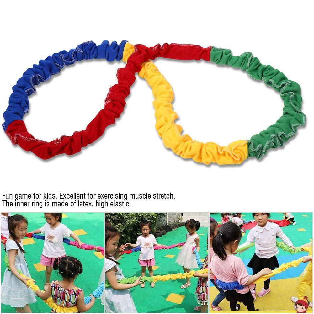 LIOOBO 2 Meters Children Teamwork Games Circle Southeast Northwest Running Push Game Outdoor Sports Elastic Rope Sensory System Training
