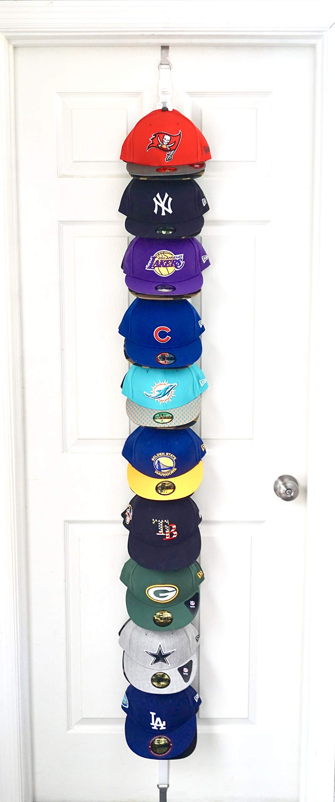 Wonderful The Clip Hanger Hat Rack Holds 20 Hats On 1 Strap Any Size Any Style Any  Shape Wall Or Door (White)