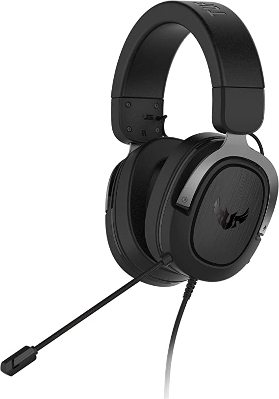 Asus TUF Gaming H3 Discord Teamspeak Certified Gaming Headset with 7.1 Virtual Surround Sound and Boom Microphone for PC