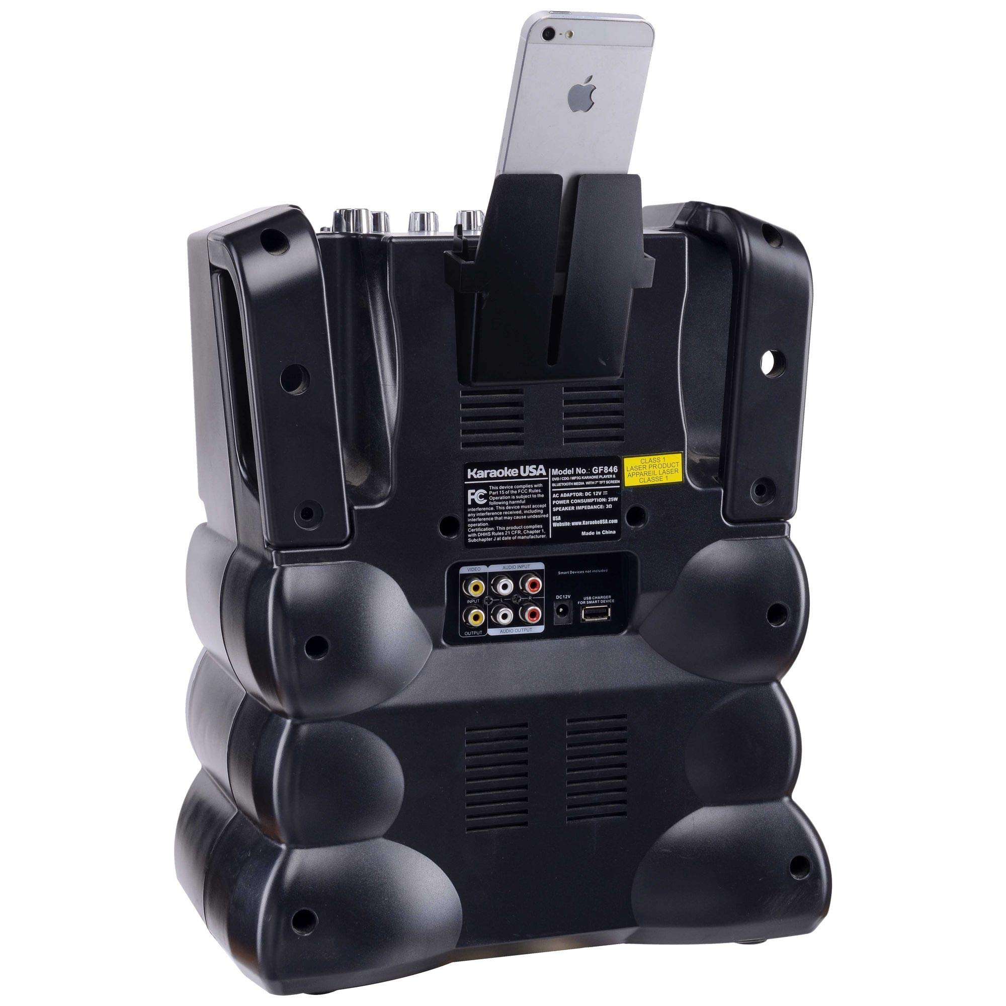 Karaoke USA GF846 DVD/CDG/MP3G Karaoke Machine with 7'' TFT Color Screen, Record, Bluetooth and LED Sync Lights by Karaoke USA (Image #8)