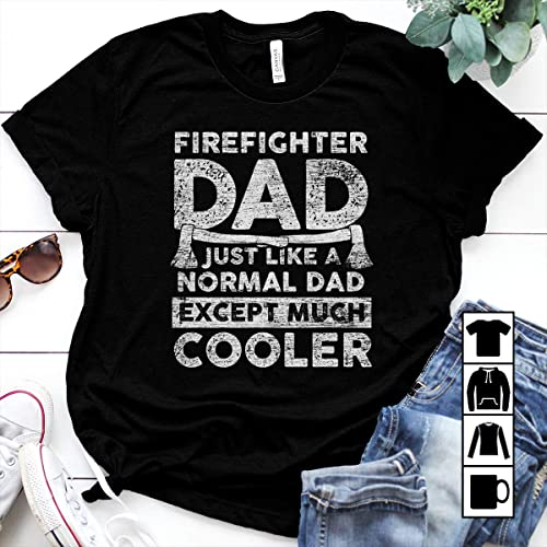 e5de0076 Image Unavailable. Image not available for. Color: Firefighter Firefighter  dad just like a normal dad cooler ...
