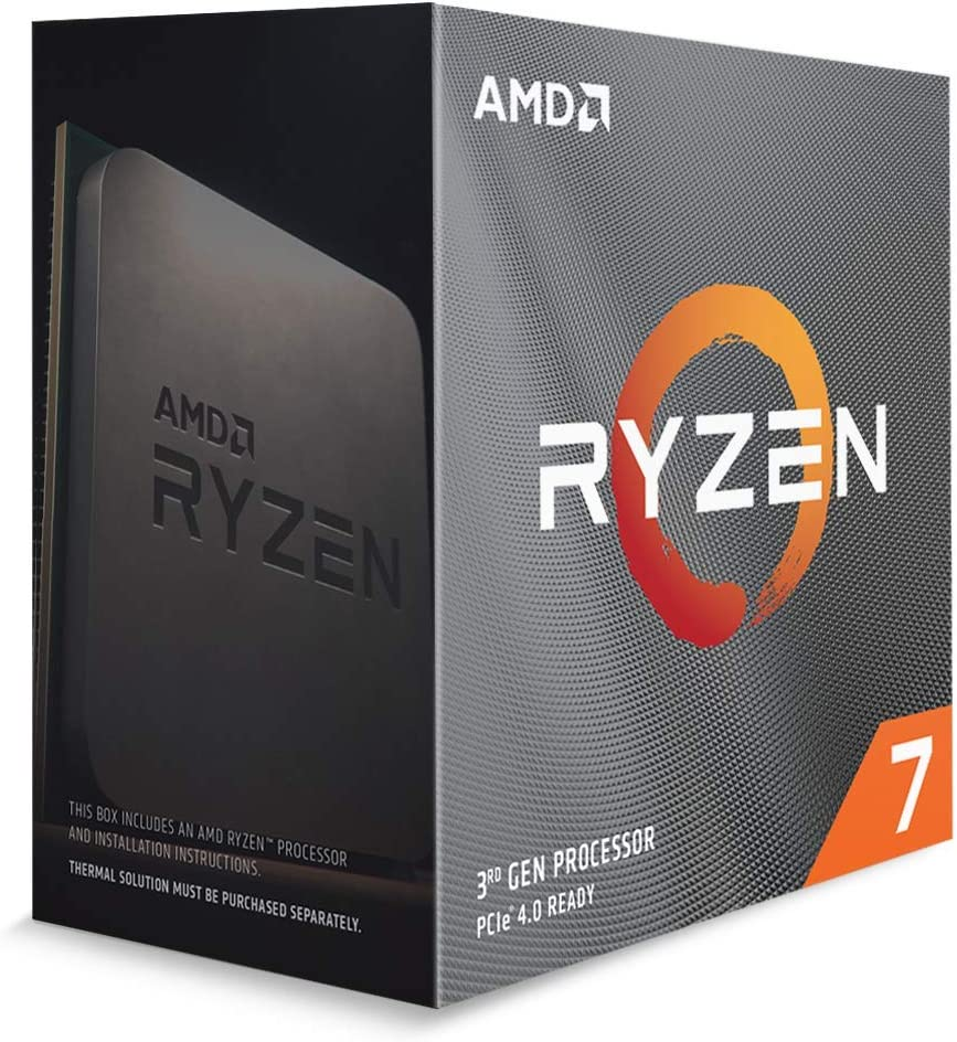 AMD Ryzen/™ 7 3800XT Processor 8C//16T, 36MB Cache, Up to 4.7 GHz Max Boost Without Cooler