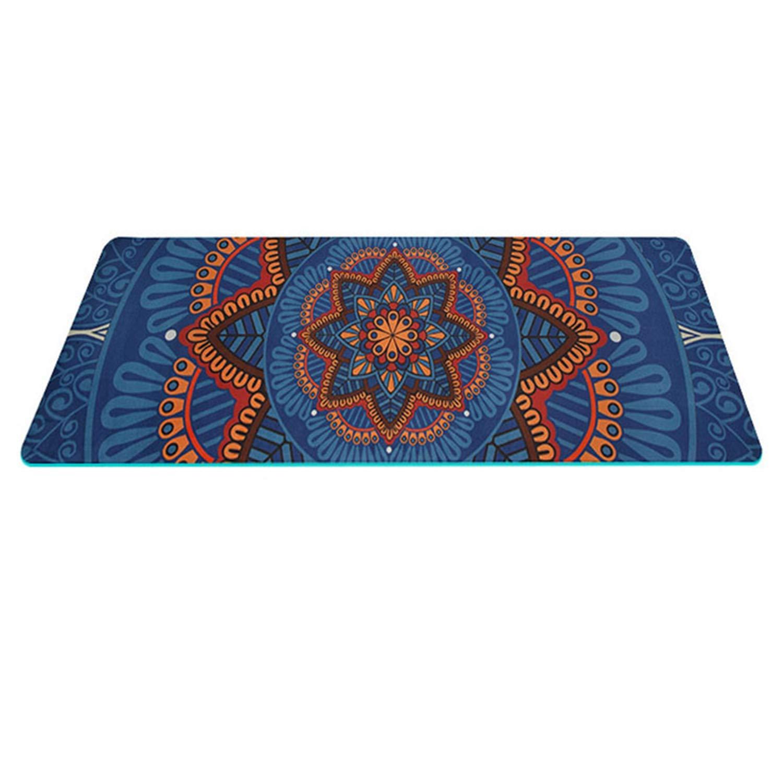 Amazon.com : SODIAL 5 Mm Lotus Pattern Suede TPE Yoga Mat ...