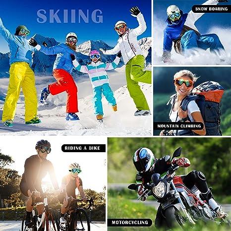 ELECOOL - Gafas de esquí (2 Unidades, Lentes, protección UV ...