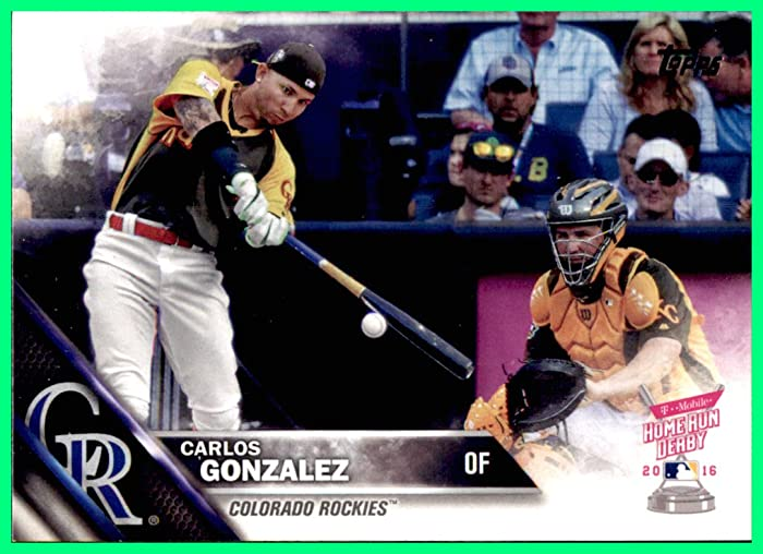 Top 10 Carlos Gonzalez Cards Home Run Derby