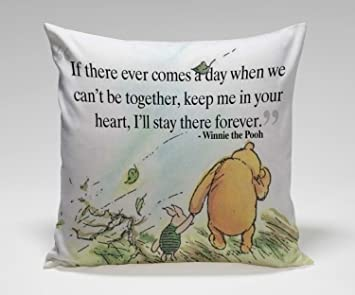 Amazon Com Cartoon Cute Love Quote Winnie The Pooh Pillow Case