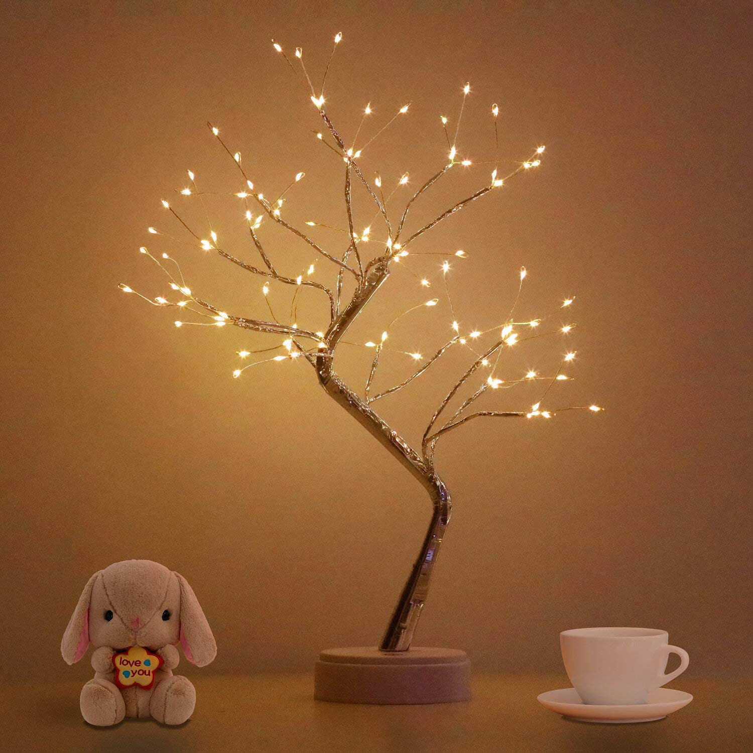 Bonsai Tree Light for Room Decor, Aesthetic Lamps for Living Room, Cute Night Light for House Decor, Good Ideas for Gifts, Home Decorations, Weddings,Christmas, Holidays and More (Warm White, 108 LED)