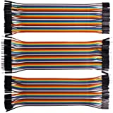 VIPMOON 120pcs Multicolored Dupont Wire 40pin Male to Female, 40pin Male to Male, 40pin Female to Female Breadboard Jumper Wires Ribbon Cables Kit for Arduino and Raspberry Pi