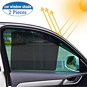 Big Ant Car Window Sun Shade,Side Window Shade Block Sun Glare, Harmful Heat, UV Rays, Sun Glare Reducer Cling Window Shade Protect Driver Baby Child Or Pet's Eyes,2PC