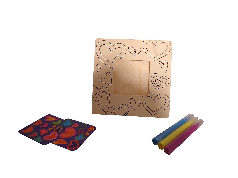 Set of 2 WeGlow International WGI Heart Wood Frame Kit Virginia Toy 85cft97